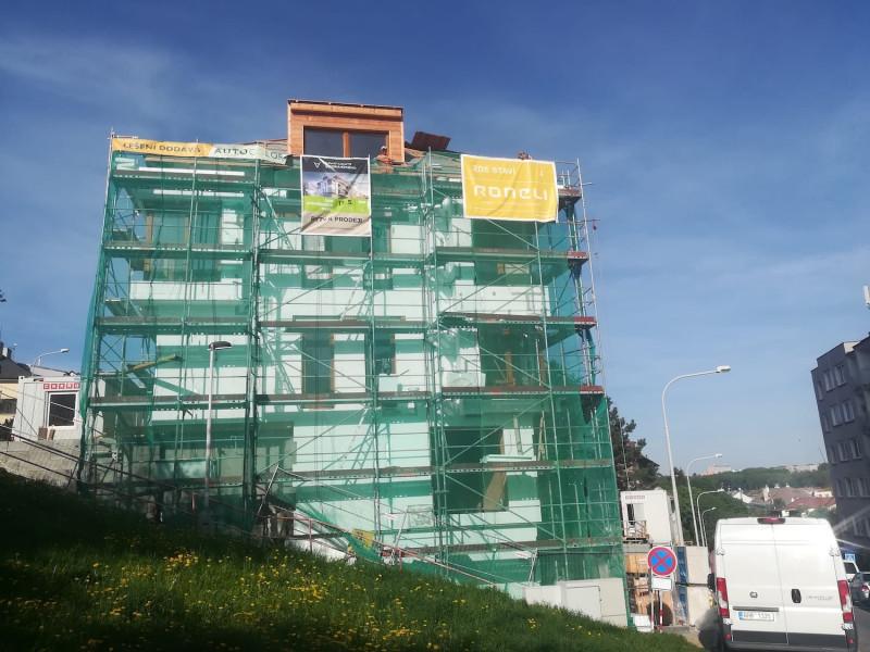 Hrubá stavba projektu Apartments Vodňanského dokončena